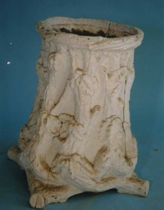 Rustic pedestal