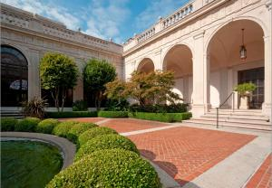 NOW: Courtyard of the Freer Gallery of Art (sans peacocks), 2010. Photographer: Eric Long.