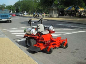 Smithsonian Gardens is asking its contractors to switch to more eco-friendly mowing equipment.