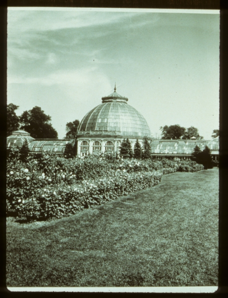 Belle Isle Conservatory. Smithsonian Institution, Archives of American Gardens, Garden Club of America Collection.