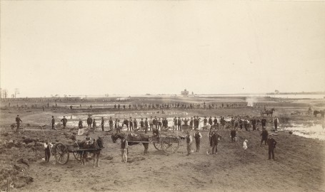 Workers on Belle Isle, 1888. Burton Historical Collection, Detroit Public Library.