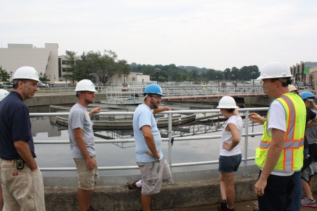 The Smithsonian  Gardens Green Team tours the Blue Plains Advanced Wastewater Treatment Plant.