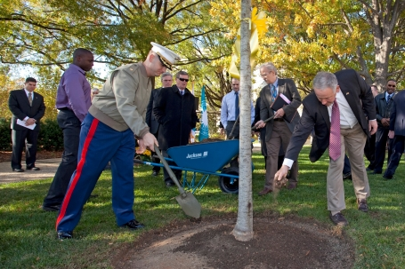 Medal of Honor Tree planting ceremony at NMAH