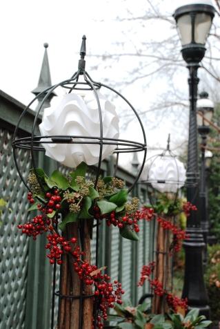 Festive decorations in the Ripley Garden.