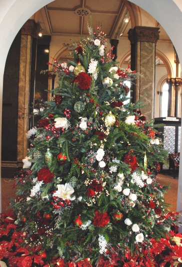 The Smithsonian Castle holiday tree.