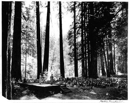 Garden Club of America dedication ceremony of redwoods grove.