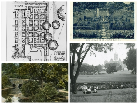 Collage of Archives of American Gardens primary sources.