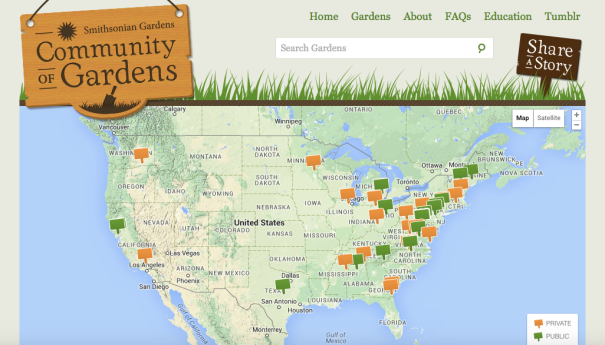 Community of Gardens website