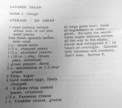 Isabel's layered salad recipe