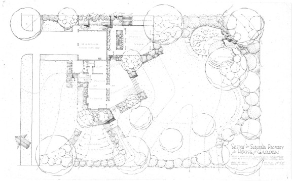Sketch of a Suburban Garden by Perry Wheeler